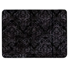 Damask1 Black Marble & Black Watercolor Samsung Galaxy Tab 7  P1000 Flip Case by trendistuff