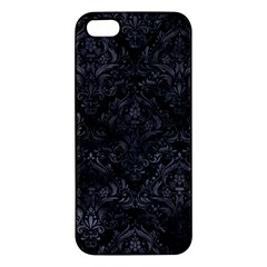 Damask1 Black Marble & Black Watercolor Iphone 5s/ Se Premium Hardshell Case by trendistuff