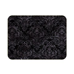 Damask1 Black Marble & Black Watercolor Double Sided Flano Blanket (mini) by trendistuff