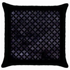 Circles3 Black Marble & Black Watercolor (r) Throw Pillow Case (black) by trendistuff