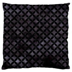 Circles3 Black Marble & Black Watercolor (r) Large Cushion Case (two Sides) by trendistuff