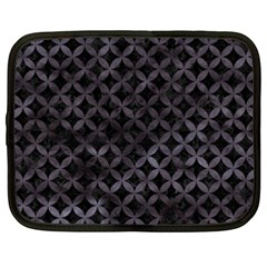 Circles3 Black Marble & Black Watercolor Netbook Case (xxl) by trendistuff