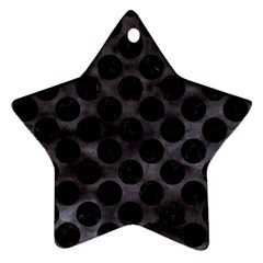 Circles2 Black Marble & Black Watercolor (r) Star Ornament (two Sides) by trendistuff
