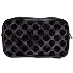 Circles2 Black Marble & Black Watercolor (r) Toiletries Bag (two Sides) by trendistuff
