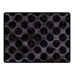 Circles2 Black Marble & Black Watercolor (r) Fleece Blanket (small) by trendistuff