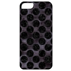 Circles2 Black Marble & Black Watercolor (r) Apple Iphone 5 Classic Hardshell Case by trendistuff