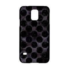 Circles2 Black Marble & Black Watercolor (r) Samsung Galaxy S5 Hardshell Case  by trendistuff