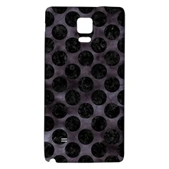 Circles2 Black Marble & Black Watercolor (r) Samsung Note 4 Hardshell Back Case by trendistuff