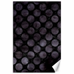 Circles2 Black Marble & Black Watercolor Canvas 24  X 36  by trendistuff