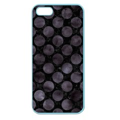 Circles2 Black Marble & Black Watercolor Apple Seamless Iphone 5 Case (color) by trendistuff