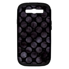 Circles2 Black Marble & Black Watercolor Samsung Galaxy S Iii Hardshell Case (pc+silicone) by trendistuff