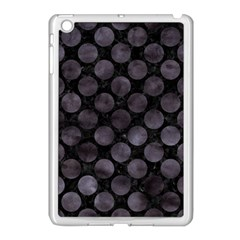 Circles2 Black Marble & Black Watercolor Apple Ipad Mini Case (white) by trendistuff