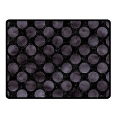 Circles2 Black Marble & Black Watercolor Double Sided Fleece Blanket (small) by trendistuff