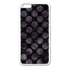 Circles2 Black Marble & Black Watercolor Apple Iphone 6 Plus/6s Plus Enamel White Case by trendistuff