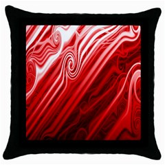 Red Abstract Swirling Pattern Background Wallpaper Throw Pillow Case (black) by Simbadda