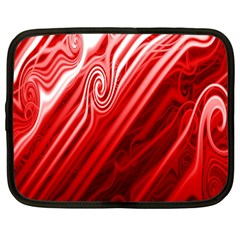 Red Abstract Swirling Pattern Background Wallpaper Netbook Case (large) by Simbadda