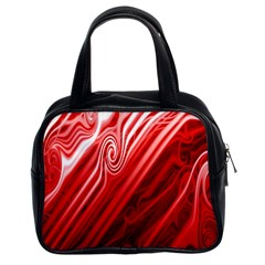 Red Abstract Swirling Pattern Background Wallpaper Classic Handbags (2 Sides)