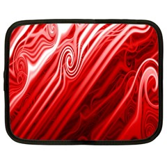 Red Abstract Swirling Pattern Background Wallpaper Netbook Case (xxl)  by Simbadda