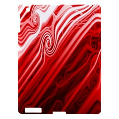 Red Abstract Swirling Pattern Background Wallpaper Apple Ipad 3/4 Hardshell Case