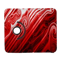 Red Abstract Swirling Pattern Background Wallpaper Galaxy S3 (flip/folio) by Simbadda