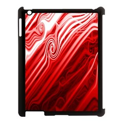 Red Abstract Swirling Pattern Background Wallpaper Apple Ipad 3/4 Case (black) by Simbadda