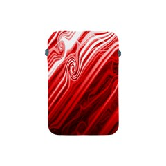 Red Abstract Swirling Pattern Background Wallpaper Apple Ipad Mini Protective Soft Cases