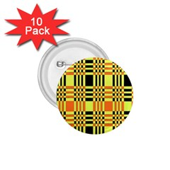 Yellow Orange And Black Background Plaid Like Background Of Halloween Colors Orange Yellow And Black 1 75  Buttons (10 Pack) by Simbadda