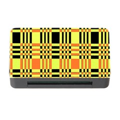 Yellow Orange And Black Background Plaid Like Background Of Halloween Colors Orange Yellow And Black Memory Card Reader With Cf