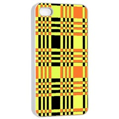 Yellow Orange And Black Background Plaid Like Background Of Halloween Colors Orange Yellow And Black Apple Iphone 4/4s Seamless Case (white)