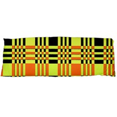 Yellow Orange And Black Background Plaid Like Background Of Halloween Colors Orange Yellow And Black Body Pillow Case (dakimakura)