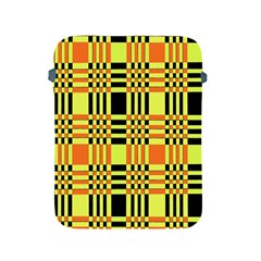 Yellow Orange And Black Background Plaid Like Background Of Halloween Colors Orange Yellow And Black Apple Ipad 2/3/4 Protective Soft Cases by Simbadda
