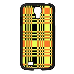 Yellow Orange And Black Background Plaid Like Background Of Halloween Colors Orange Yellow And Black Samsung Galaxy S4 I9500/ I9505 Case (black)