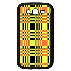 Yellow Orange And Black Background Plaid Like Background Of Halloween Colors Orange Yellow And Black Samsung Galaxy Grand Duos I9082 Case (black) by Simbadda