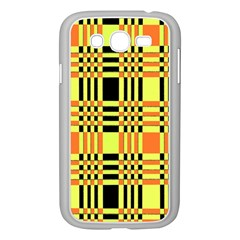 Yellow Orange And Black Background Plaid Like Background Of Halloween Colors Orange Yellow And Black Samsung Galaxy Grand Duos I9082 Case (white) by Simbadda