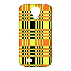 Yellow Orange And Black Background Plaid Like Background Of Halloween Colors Orange Yellow And Black Samsung Galaxy S4 Classic Hardshell Case (pc+silicone)