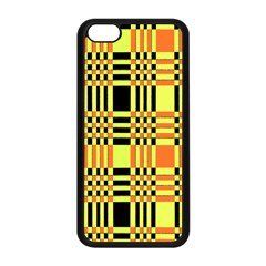 Yellow Orange And Black Background Plaid Like Background Of Halloween Colors Orange Yellow And Black Apple Iphone 5c Seamless Case (black) by Simbadda