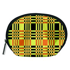 Yellow Orange And Black Background Plaid Like Background Of Halloween Colors Orange Yellow And Black Accessory Pouches (medium)
