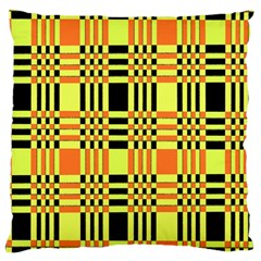 Yellow Orange And Black Background Plaid Like Background Of Halloween Colors Orange Yellow And Black Standard Flano Cushion Case (two Sides)