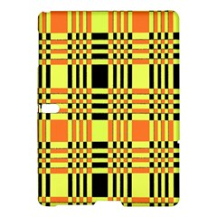 Yellow Orange And Black Background Plaid Like Background Of Halloween Colors Orange Yellow And Black Samsung Galaxy Tab S (10 5 ) Hardshell Case