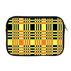 Yellow Orange And Black Background Plaid Like Background Of Halloween Colors Orange Yellow And Black Apple Macbook Pro 17  Zipper Case by Simbadda
