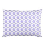 White and Lilac Pentacle Pagan Wiccan Pillow Case (Two Sides) Front