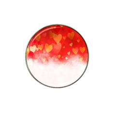 Abstract Love Heart Design Hat Clip Ball Marker