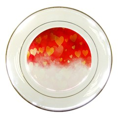 Abstract Love Heart Design Porcelain Plates
