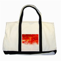 Abstract Love Heart Design Two Tone Tote Bag by Simbadda