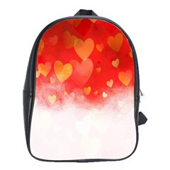 Abstract Love Heart Design School Bags(large)  by Simbadda