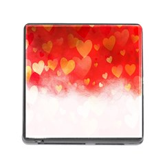 Abstract Love Heart Design Memory Card Reader (square)