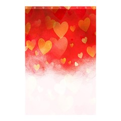 Abstract Love Heart Design Shower Curtain 48  X 72  (small)  by Simbadda