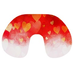 Abstract Love Heart Design Travel Neck Pillows