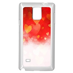 Abstract Love Heart Design Samsung Galaxy Note 4 Case (white)