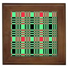 Bright Christmas Abstract Background Christmas Colors Of Red Green And Black Make Up This Abstract Framed Tiles by Simbadda